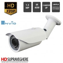 CAMERA EXTERIOR ENVIO IP , 1.3 MP,720P , IR 40M , IP-ZEN42W-1.3
