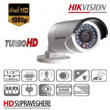 Kit supraveghere complet 6 camera exterior Bullet HD 1080P Hikvision