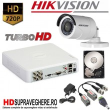 Kit supraveghere complet 1 camera turboHD 720P Hikvision