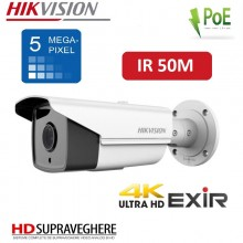 CAMERA EXTERIOR IP ULTRA HD 4K, IR EXIR 50M , 5 MP HIKVISION DS-2CD2T52-I5