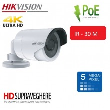 CAMERA IP EXTERIOR 4K ULTRA HD 5MP, IR 30M ,HIKVISION DS-2CD2052-I