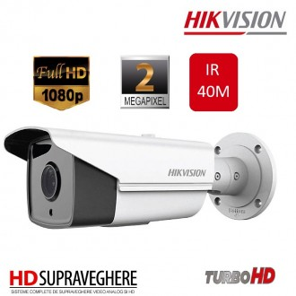 CAMERA EXTERIOR HDTVI 1080P IR40M, HIKVISION TURBO HD DS-2CE16D1T-IT3