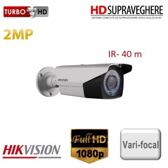 Camera bullet exterior, FullHD 1080p, 2MP, VariFocal, IR 40 M HIKVISION TurboHD DS-2CE16D1T-AIR3Z