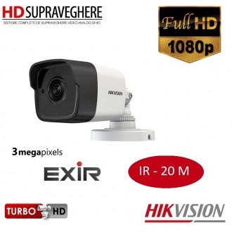 Camera bullet,exterior, 3MP, FullHD , IR 20 M, HIKVISION TURBOHD 3.0 DS-2CE16F1T-IT