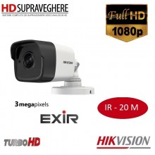 Camera bullet exterior, 3.0 MP, FullHD, IR EXIR 20 M, HIKVISION TURBOHD 3.0 DS-2CE16F7T-IT