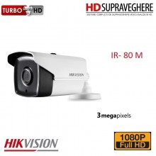 Camera bullet, exterior, 3.0 MP, FullHD, IR 80 M, HIKVISION DS-2CE16F7T-IT5 TurboHD 3.0
