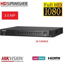 DVR HDTVI, 16 canale, TurboHD 3.0 MP,HIKVSION DS-7216HUHI-F2/N