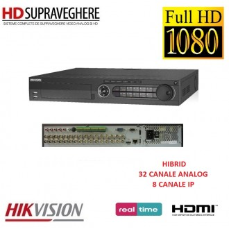 DVR HDTVI, 32 canale, FullHD, HIKVISION TURBO HD DS-7332HGHI-SH