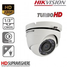 CAMERA DOME HDTVI 720P IR20M, HIKVISION TURBO HD DS-2CE56C0T-IRM