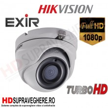 CAMERA SUPRAVEGHERE DOME FULL HD, HDTVI 1080p ,IR20M, HIKVISION TURBO HD DS-2CE56D7T-ITM