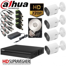 Kit supraveghere video complet 4 Camere Dahua HD