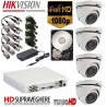 Kit supraveghere complet 4 camera FULL HD 1080P Hikvision