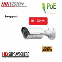 CAMERA IP BULLET DE EXTERIOR FULL HD 3.0 MP ZOOM MANUAL , HIKVISION DS-2CD2632F-I