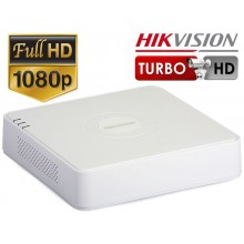 DVR TurboHD / AHD 4 Canale, Audio Over Coax, FullHD, Hikvision DS-7104HQHI-K1 (S)