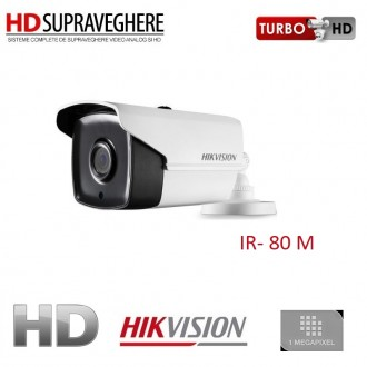 Camera bullet interior/exterior, 1.0 MP, HD 720p, IR 80 M EXIR, HIKVISION TurboHD DS-2CE16C0T-IT5