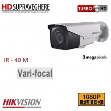 Camera bullet exterior, 3.0 MP, FullHD, IR EXIR 40M, HIKVISION TurboHD DS-2CE16F7T-IT3