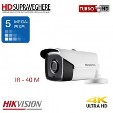 Camera supraveghere bullet, exterior, 5.0 MP, UltraHD 4K, IR 40 M, HIKVISION TurboHD DS-2CE16H1T-IT3
