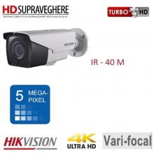 Camera bullet exterior, 5.0 MP,UltraHD 4K, varifocal, IR 40 M, HIKVISION TurboHD DS-2CE16H1T-IT3Z