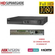 DVR / NVR HIBRID HDTVI, 32 Canale Analog , 8 Canale IP, FullHD, HIKVISION TURBO HD DS-7332HGHI-SH