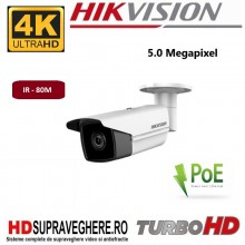 Camera IP bullet, exterior, 5.0 megapixel, IR 80 M, MicroSD, PoE, UltraHD, HIKVISION DS-2CD2T55FWD-I8