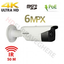 Camera IP exterior 4K ,6 Megapixeli IR EXIR 50M , PoE HIKVISION DS-2CD2T63G0-I5 2.8mm