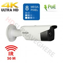Camera IP exterior 4K ,8 Megapixeli IR EXIR 50M , PoE HIKVISION DS-2CD2T83G0-I5 2.8mm