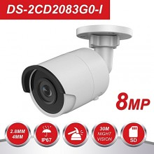 Camera IP , 8 Megapixel, IR 30M, SlotCardSD, UltraHD 4K Hikvision DS-2CD2083G0-I