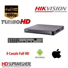 DVR HDTVI Audio Over Coax 8 CANALE 720P / 1080P ,HIKVISION DS-7208HQHI-K1 (S)