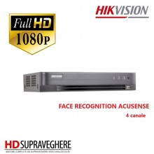 DVR 4 CANALE ,FullHD , 2 MP FACE RECOGNITION ACUSENSE, HIKVISION DS-7204HQHI-M1/FA